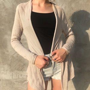 Cute Loft Beige Cream Cardigan Sweater Size XS